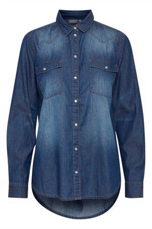 B.young ByDenni Shirt Medium Blue Denim