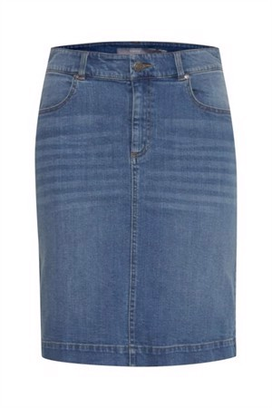 B.young ByPully Skirt Medium Blue Denim