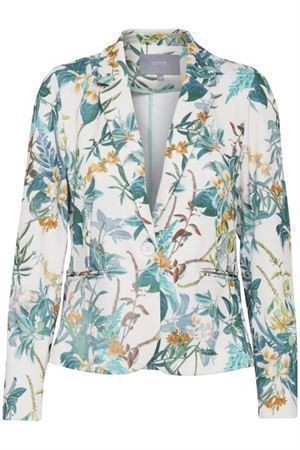 B.young ByRizetta Print Blazer Off White Combi