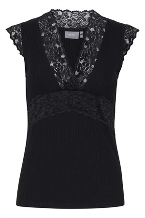 B.young ByToella Lace Top Black