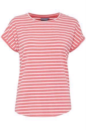 B.young Pamilla T-Shirt Striped Sunkist Coral
