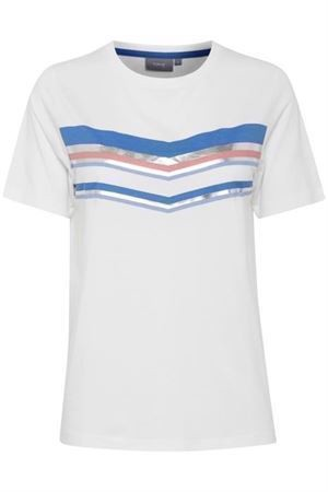 B.young Tiara Stripe T-Shirt Off White