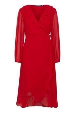 B.young Gya Dress Tomato Red