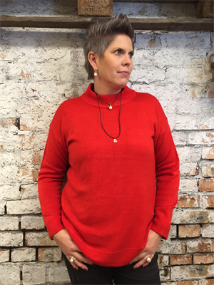 B.young Malea Turtleneck Tomato Red