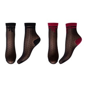 Decoy Ankle Socks 2-Pair Black