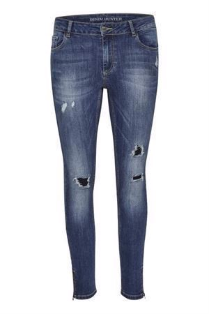 Denim Hunter Celina Zip Torn Vintage Wash