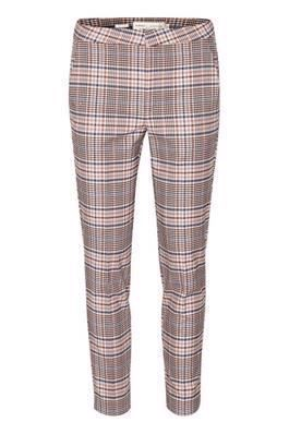 InWear Adalia Zella Cigarette Pants Graphic Check Rosa