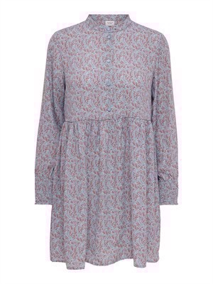 JDY Carmen L/S Short Dress WVN Citadel/Copper Brown