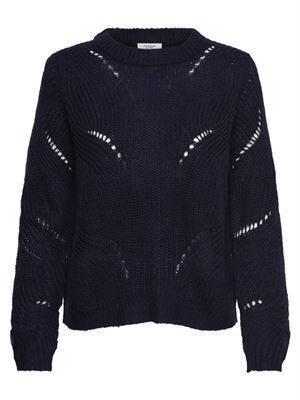 JDY Daisy L/S Structure Pullover Night