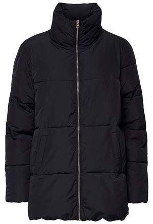 JDY Erica Long Padded Jacket Black