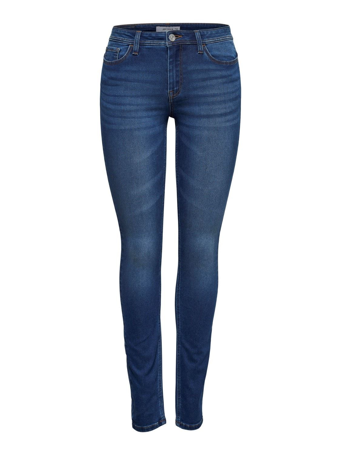 JDY Jake  Skinny  RW Med Blue DNM Noos - Medium Blue Denim