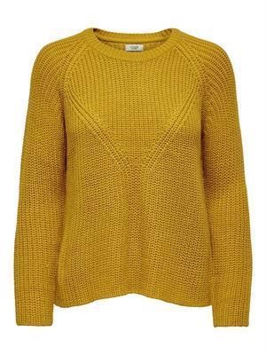 JDY Justy 7/8 Noos pullover Knit Harvest Gold