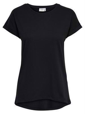 JDY Louisa S/S Fold Up Top Noos Black