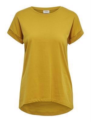 JDY Louisa S/S Fold Up Top Noos Harvest Gold