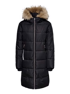 JDY Lovina Padded Hood Jacket Black