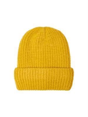 JDY Mila Knit Beanie Harvest Gold