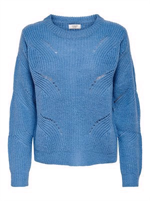 JDY New Daisy L/S Structure Pullo Knit Noos Lichen Blue