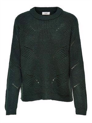 JDY New Daisy L/S Structure Pullover Knit Noos Scarab