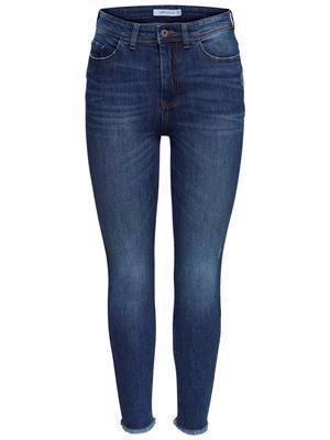JDY Sedi Skinny HW M Blue Ankle Medium Blue Denim