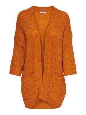 JDY Tammy 3/4 Boxy Cardigan Knit Autumn Maple