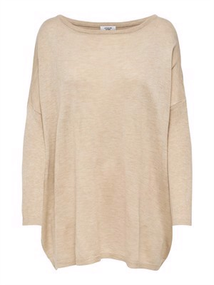JDY Zoe 7/8 Oversize Pullover Knit Cement