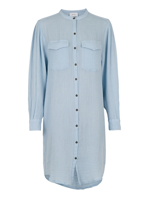 Neo Noir Kendell Gauze Shirt Dress Light Blue