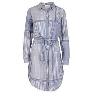 Neo Noir Sally Partisan Cotton Dress Dusty Blue