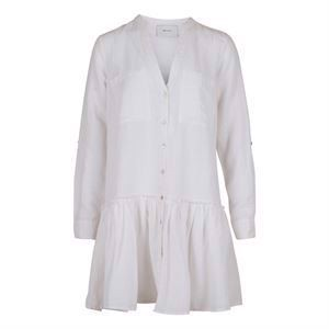 Neo Noir Stellar Linen Dress White