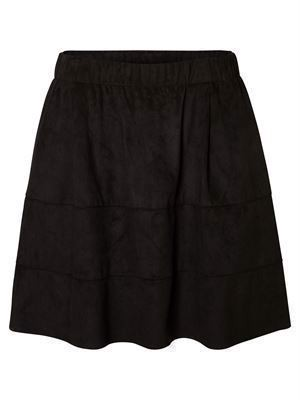 NM Lauren Faux Suede Skirt Black