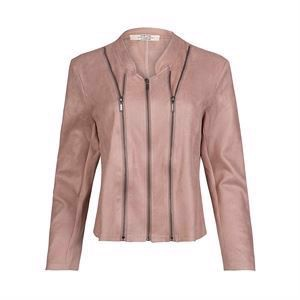 One Two Athena Coated Suede Jacket Vintage Rose