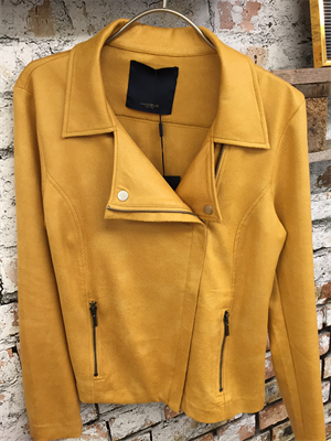 One Two Fritsenio Coated Suede Jacket Honey Gold