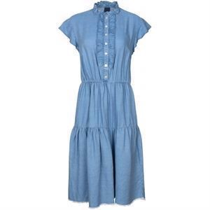 One Two Kaya Dress Faded Denim