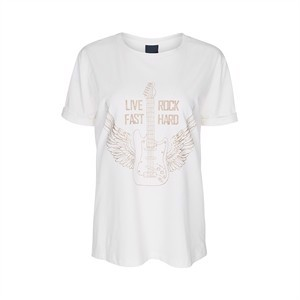 One Two T-Shirt Live Feast Cream