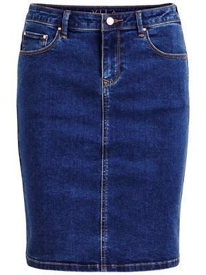 VILA ViCommit Felicia Short Skirt Medium Blue Denim - Noos