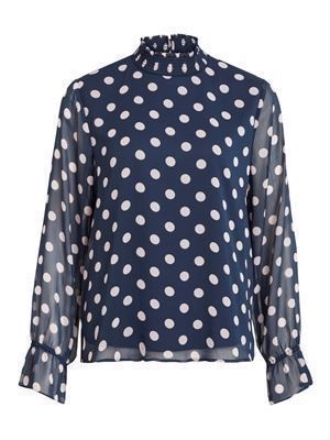 VILA Vidotly L/S Top Navy Blazer