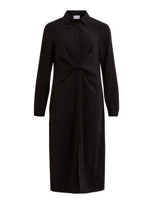 VILA ViLaia L/S Detail Shirt Dress - Fav Black