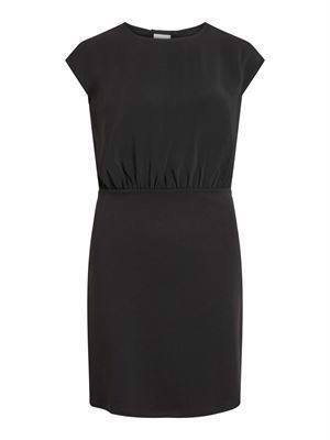 VILA ViLaia S/L Back Detail Dress - Fav NX Black