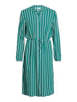 VILA ViLinetta Stripie L/S Dress Pepper Green