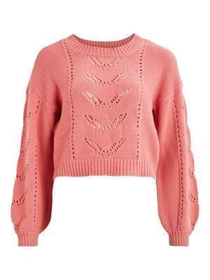 VILA ViLively Knit L/S Top Brandied Apricot