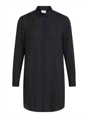 VILA ViLucy Button L/S Tunic - Noos - Black