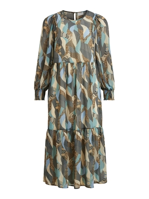 VILA ViMadia L/S Dress Colony Blue