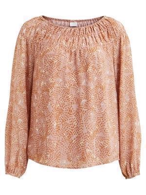 VILA ViNema Emia L/S Top Adobe Rose
