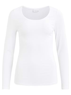 Vila ViOfficiel New L/S Top - Noos - Optical White