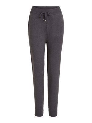 VILA ViRil Knit Pants Dark Grey Melange