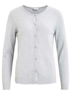 Vila Viril L/S Knit Cardigan - Noos - Light Grey Melange
