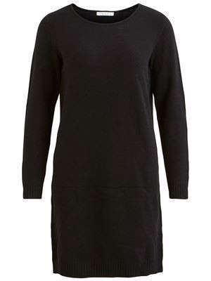 VILA Viril L/S Knit Dress Noos Black