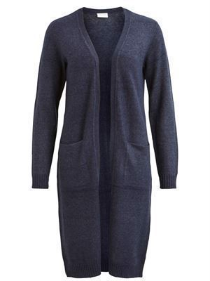 VILA ViRilL/S Long Knit Cardigan Total Eclipse