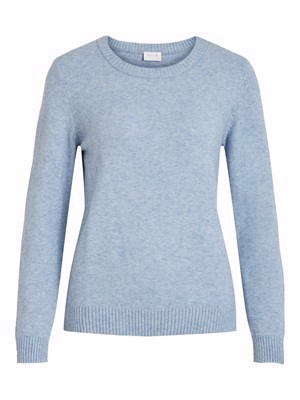 VILA ViRil L/S O-Neck Knit Top - Noos - Ashley Blue