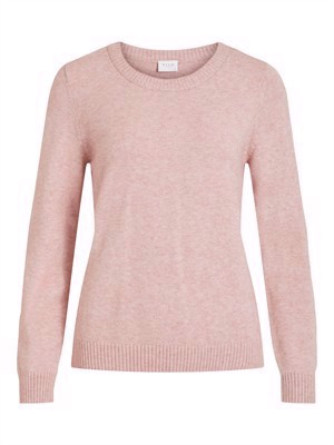 VILA ViRil L/S O-Neck Knit Top - Noos - Pale Mauve