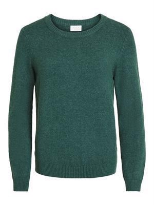 VILA Viril L/S O-Neck Knit Top - Noos - Pine Grove